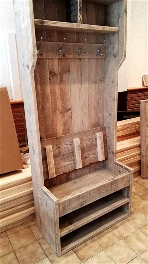 diy wood pallet hall tree pallets pro