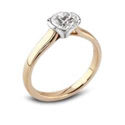 and white gold engagement rings 18ct yellow and white gold solitaire engagement ring