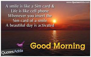 A smile is Like a Sim Card Best Good Morning Thoughts ...