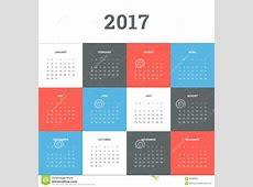Calendar 2017 Stock Vector Image 58388559