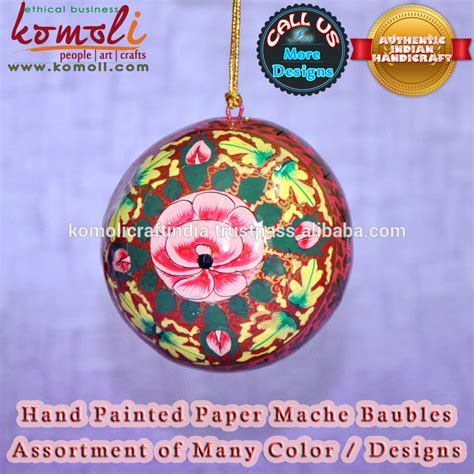 hand painted christmas bauble christmas decorations