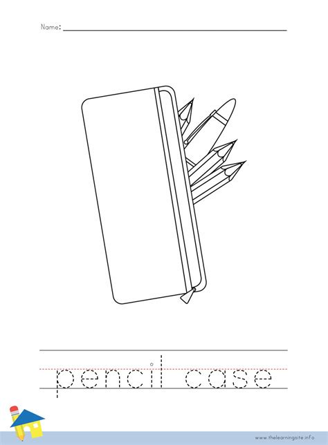 pencil template pencil coloring coloring pages