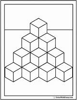Coloring Cubes Pages Cube Template Blocks Shape Many Printable Square Colorwithfuzzy Print sketch template