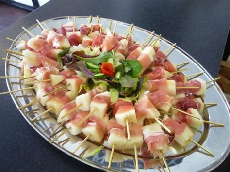 melon and parma ham canapes picture of peg 39 s parlour