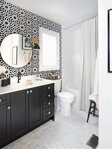 black and white bathroom houzz With houzz black and white bathroom