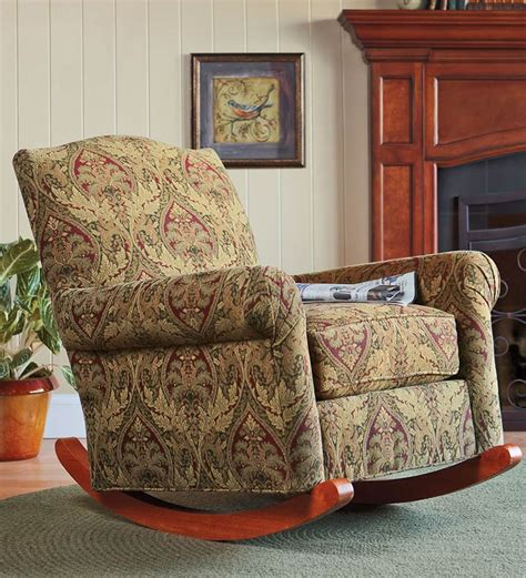 cottage rocker upholstered rocking chair plow hearth on