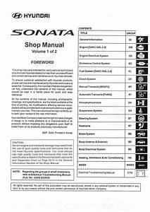 Hyundai Sonata Nf Shop Manual  Service Manual For Repair