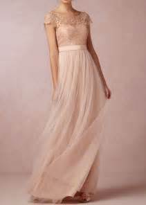 bridesmaid gowns chagne tulle lace bodice cap sleeves a line bridesmaid dress idress