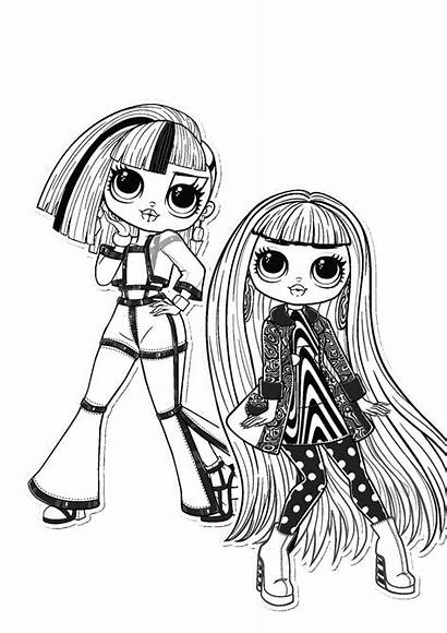 Lol Omg Coloring Pages Dolls Groovy Together