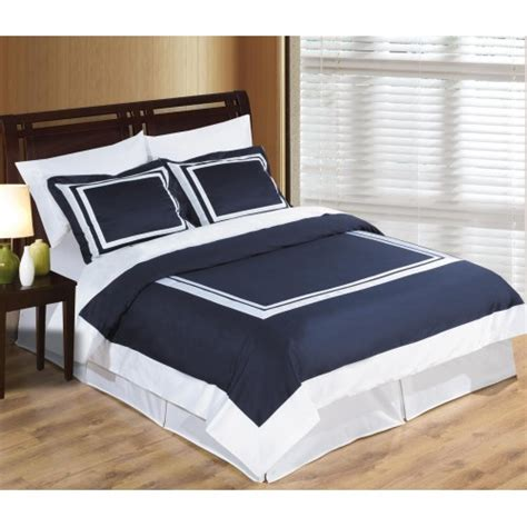 Navy Duvet Cover by Wrinkle Free Cotton Navy And White Duvet Cover Set