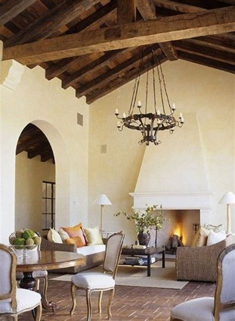 cozy living room designs  exposed wooden beams