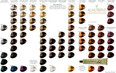 Clairol Professional Hair Color Chart Numbers