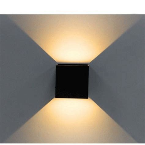 led wall light modern cube wall sconce direction