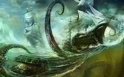 Sea Monster Wallpapers Monsters Giant Mythical Kraken