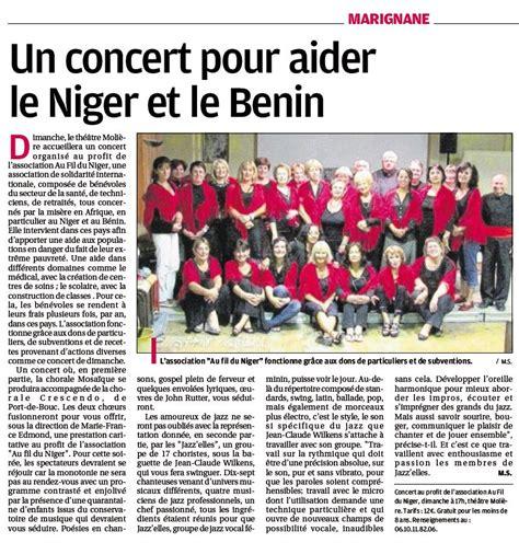 La Va Aider Le Niger Un Concert Pour Aider Le Niger Et Le Benin