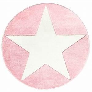 teppich rund mit stern rosa weiss honeyhomech With balkon teppich mit baby tapete rosa