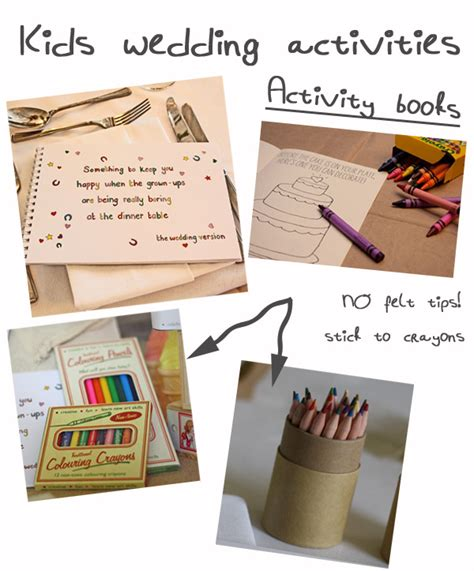 ideas for children s wedding activity packs what to put
