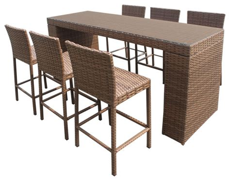 7 piece pub table set tuscan bar table set with barstools 7 piece outdoor wicker