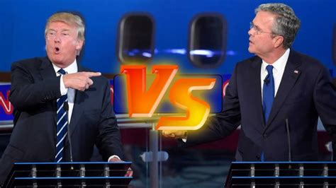 donald trump  jeb bush presidential debate highlights
