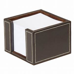 faux leather memo pad holder brown staplesr With letter pad holder