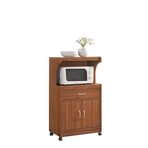 Home Depot Microwave Stand by Hodedah 1 Drawer Cherry Microwave Cart Hik72 Cherry The