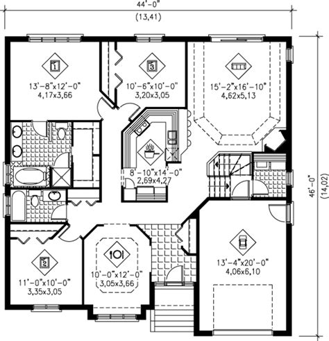 European Style House Plan - 3 Beds 2.00 Baths 1600 Sq/Ft