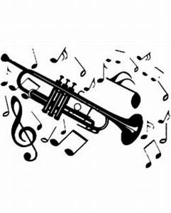 Spectacular Deal on Trumpet with Music Notes Wall Vinyl