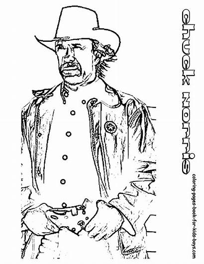Coloring Pages Norris Texas Ranger Walker Star