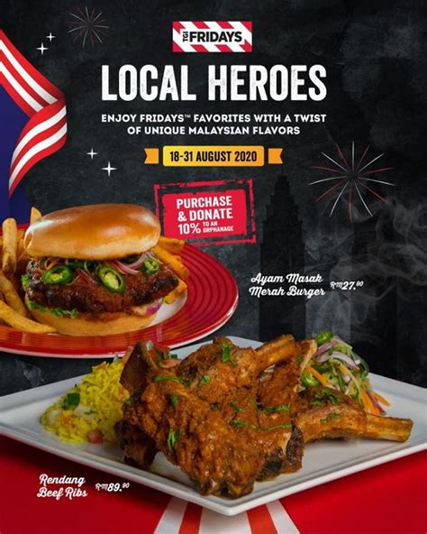 tgi fridays merdeka special menu  august