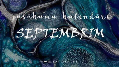 Pasākumu kalendārs septembrim - Latvieši NL