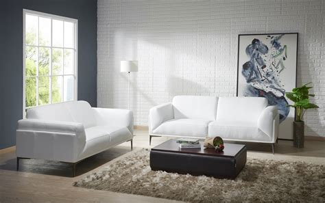 Contemporary Leather Sofa Sets by Manhattan Contemporary White Leather Sofa Set Sacramento