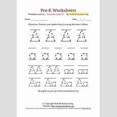 Prek Worksheets Alphabet Tracing  Pre K Works