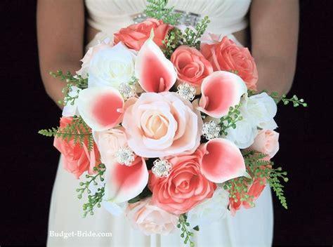 coral wedding bouquets ideas  pinterest coral