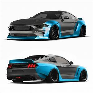 2018 Ford Mustang widebody kit, fits 2018+ Ford Mustang GT, EcoBoost