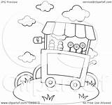 Ice Cream Coloring Outline Illustration Clip Royalty Bnp Studio Rf Clipart sketch template