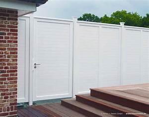 Gartenzaun Holz Weiß : anspruchsvoller sichtschutz f r ihre terrasse hartholz weiss ral mit 25 jahren garantie ~ Sanjose-hotels-ca.com Haus und Dekorationen