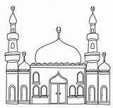Colouring Ramadan Pages Mosque Printable sketch template