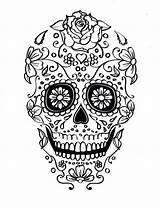 Skull Coloring Sugar Pages Printable Different Mexican Skulls Five Colouring Adult Etsy Scull Digital Candy Sheet Tattoo Name List Within sketch template