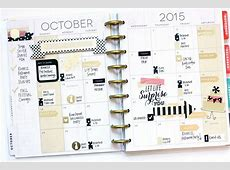 The Happy Planner™ October Setup w Fancy Tats™ — me