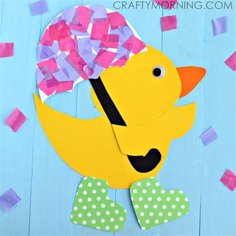 rainy day duck craft template etsy