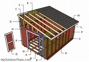 12x16 Lean to Shed Plans MyOutdoorPlans Free