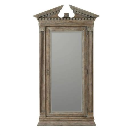 floor mirror lights hooker furniture rhapsody floor mirror with jewelry storage in light wood 5073 50001