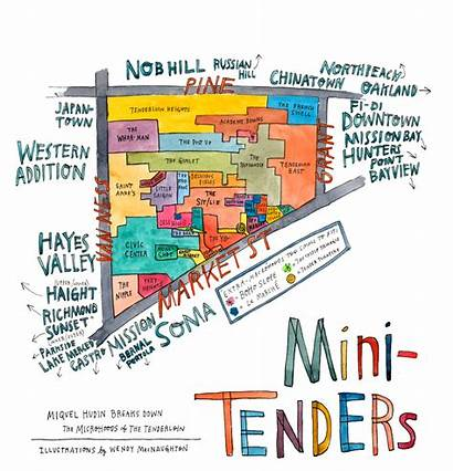 Map Tenderloin Francisco San Bold Thebolditalic Neighborhood