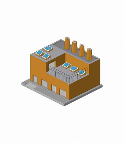 Factory Warehouse Clipart Building Diagram Cartoon Cliparts