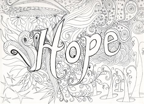 advanced coloring pages  adults hope