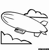 Coloring Blimp Airship Pages Template Hindenburg Zeppelin Airships Steampunk Printable Thecolor sketch template