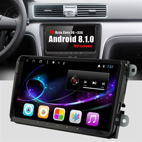 bonroad 9 quot android 8 1 0 radio stereo car multimedia player for volkswagen t5 b6 golf for skoda