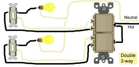 Double Way Switch Wiring Electricity Three