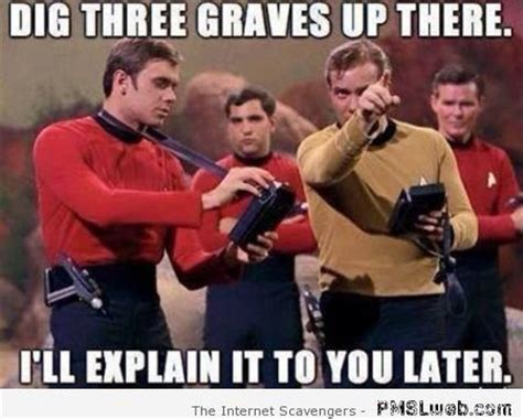 Star Trek Red Shirt Meme - monday funnyness the right way to start the week pmslweb