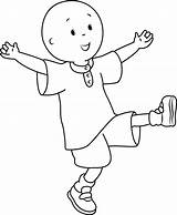 Caillou Coloring Pages Happy Fun Having Printable Cartoon Categories Coloringpages101 sketch template